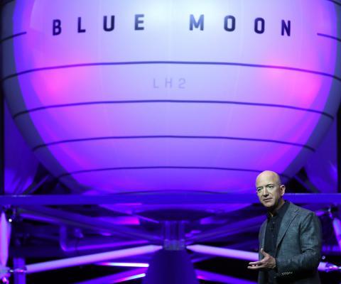 Revela dueño de Amazon nave espacial para ir a la Luna