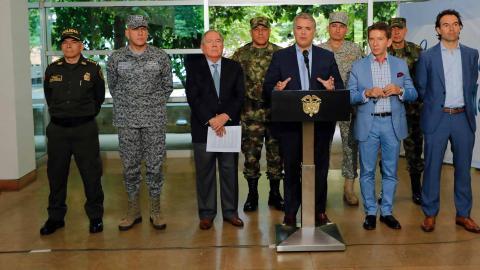 Iván Duque, presidente de Colombia, desde el municipio de Bello, Antioquia.