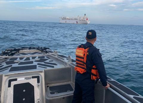 Pompeo: buque hospital estadounidense Comfort ya se encuentra en Colombia