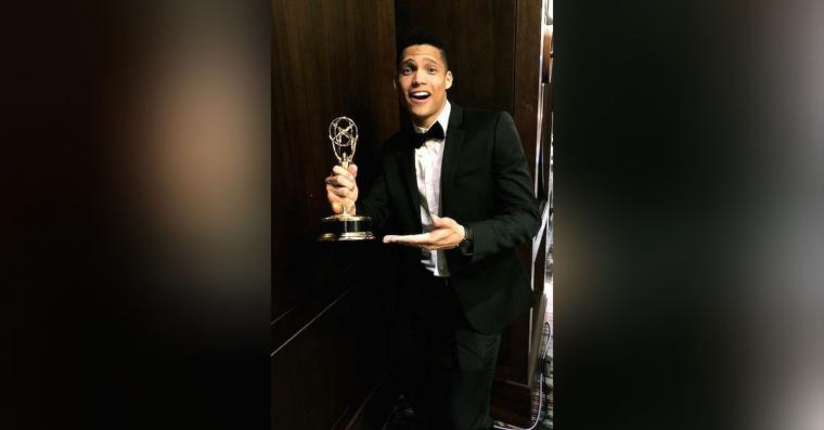 Miguel Ángel Santiesteban, Joven periodista colombiano  Rangel recibe premio Emmy