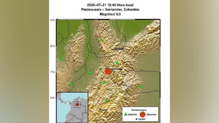Santandereanos reportaron el fuerte temblor que sacudió a la Costa