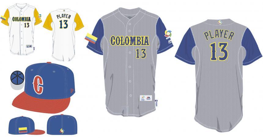 La pinta que lucirá Colombia en el Clásico Mundial de Béisbol  b9fdc6f0c15