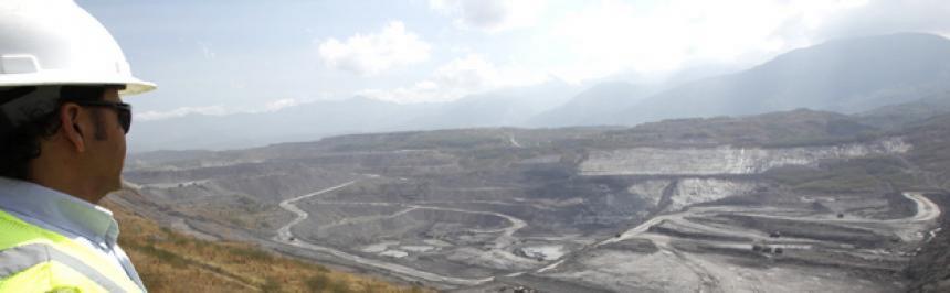 Mina de carbón La Jagua ubicada en Cesar.Archivo