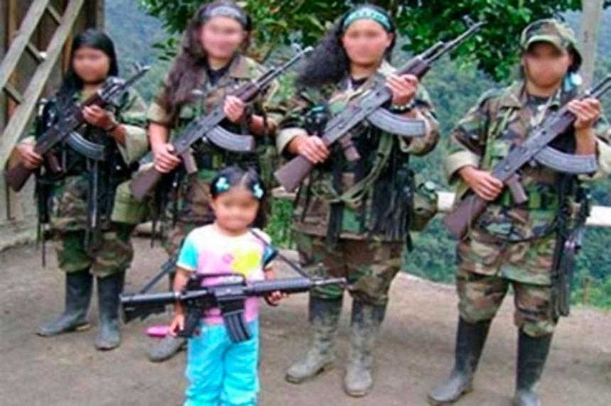 COLOMBIA: Cerca de 50 niños saldrían hoy de las filas de las Farc