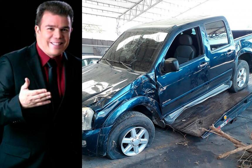 El cantautor vallenato Fabián Corrales sale ileso de accidente de tránsito en La Paz, Cesar