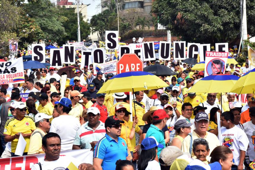 Marchas contra la corrupción en Bogotá y otras capitales del país