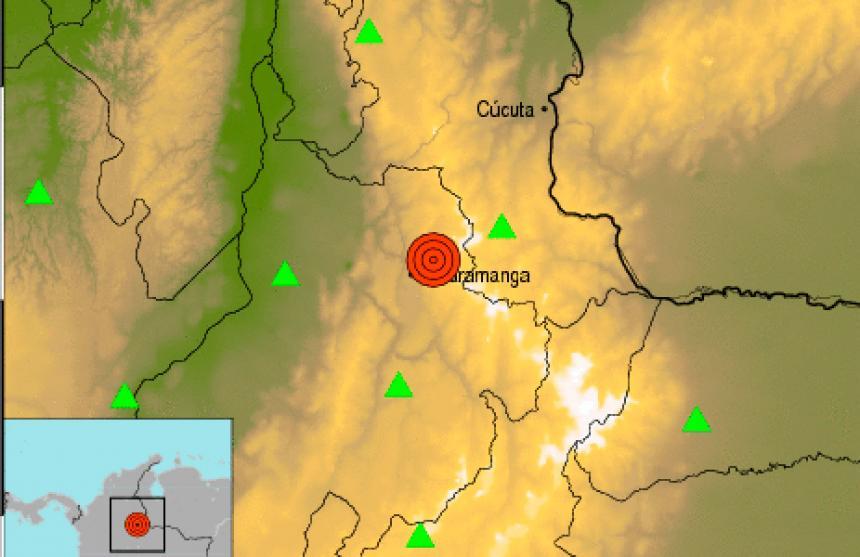 Sismo de magnitud 4,7 sacude el municipio de Tona, Santander