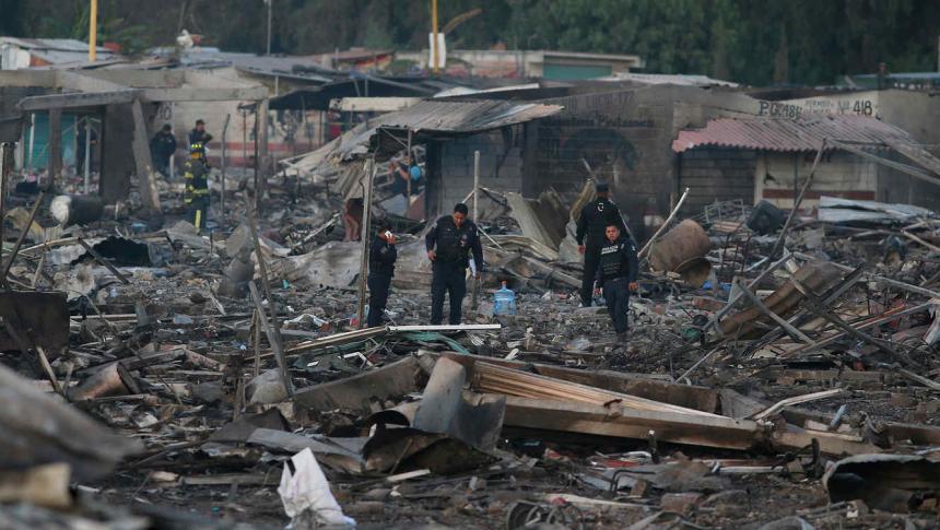 Lamenta Segob muerte de 14 personas tras explosión en Puebla