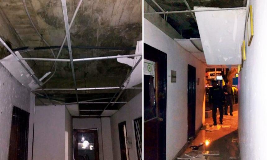 Cuatro policías heridos dejó atentado en estación de Policía de Cartagena