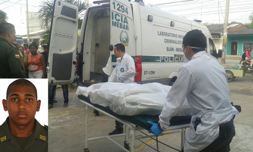 Un auxiliar de la Policía muerto tras atentado en Barranquilla