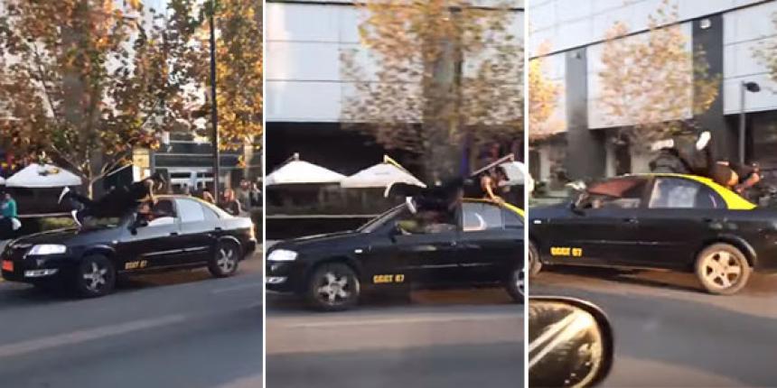 Taxista chileno le robó a dos argentinas y atropelló a un colombiano