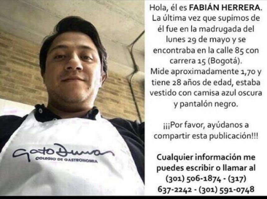 Médico desaparecido en Bogotá fue hallado muerto
