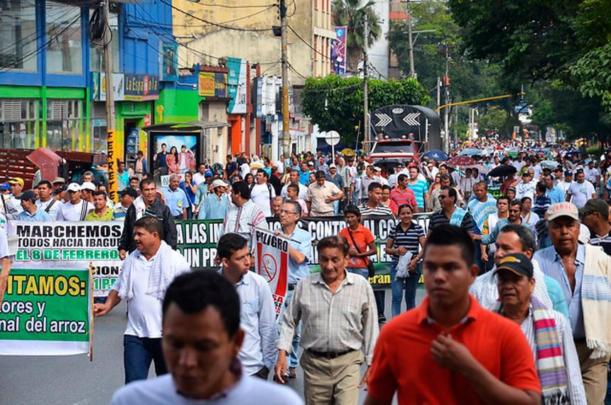 Arroceros y Gobierno logran acuerdo tras movilización en Bogotá