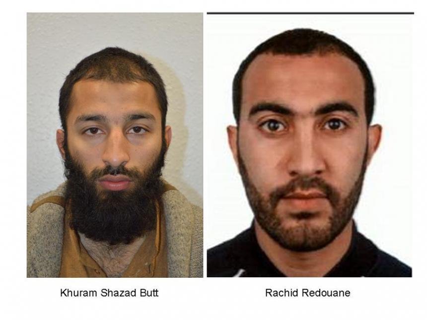 Revelan los nombres de dos de los atacantes de Londres