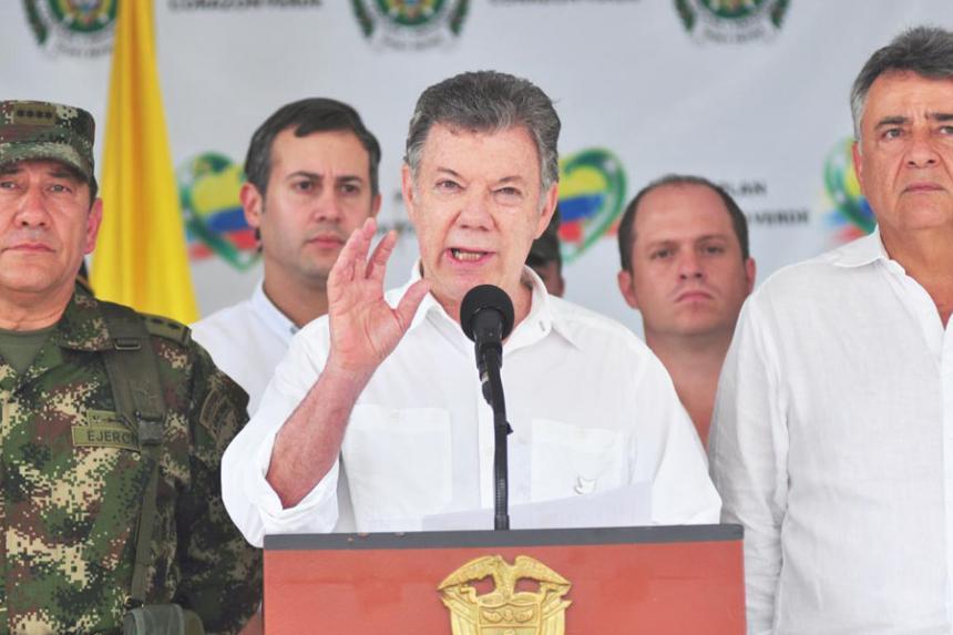 Presidente colombiano dice que Gobierno golpeará con fuerza al Clan del Golfo