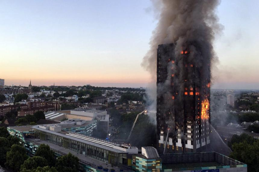 Londres: al menos seis muertos tras gran incendio de edificio
