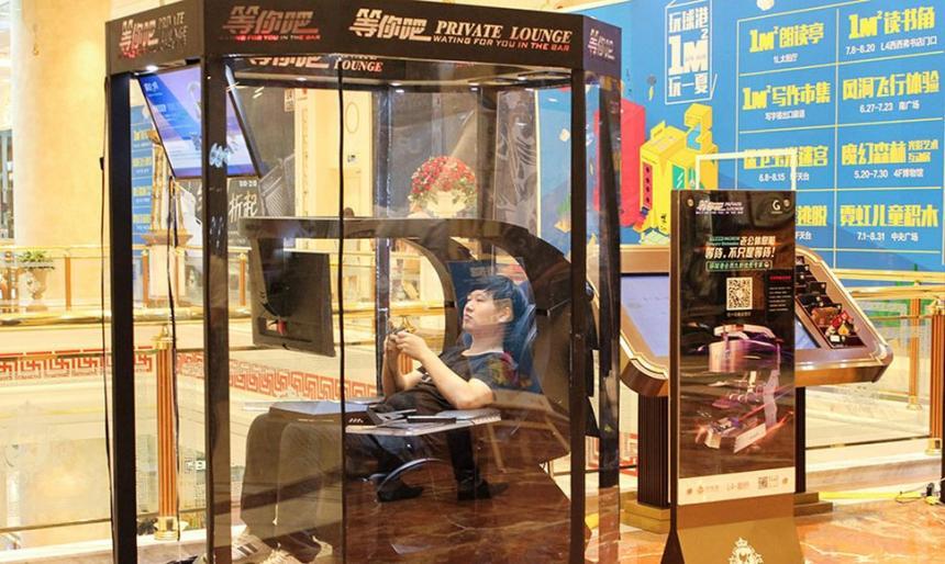 Un centro comercial chino presenta cabinas