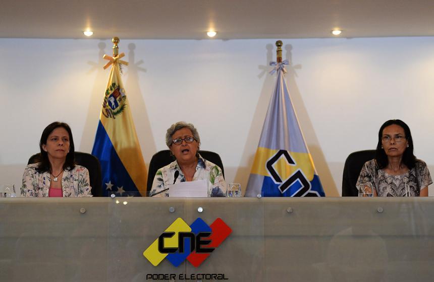 CNE anunció a los constituyentes electos por sectores