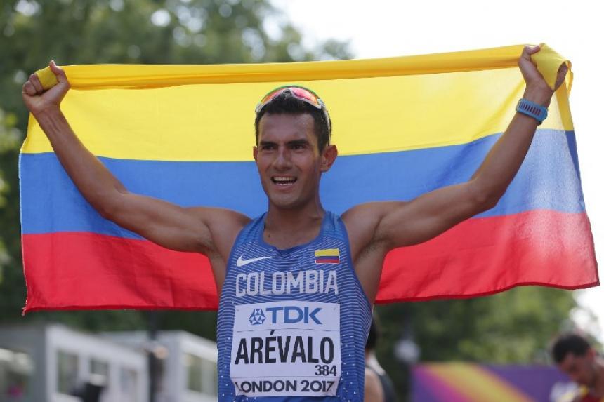El atleta colombiano Eider Arévalo se consagró campeón mundial de marcha