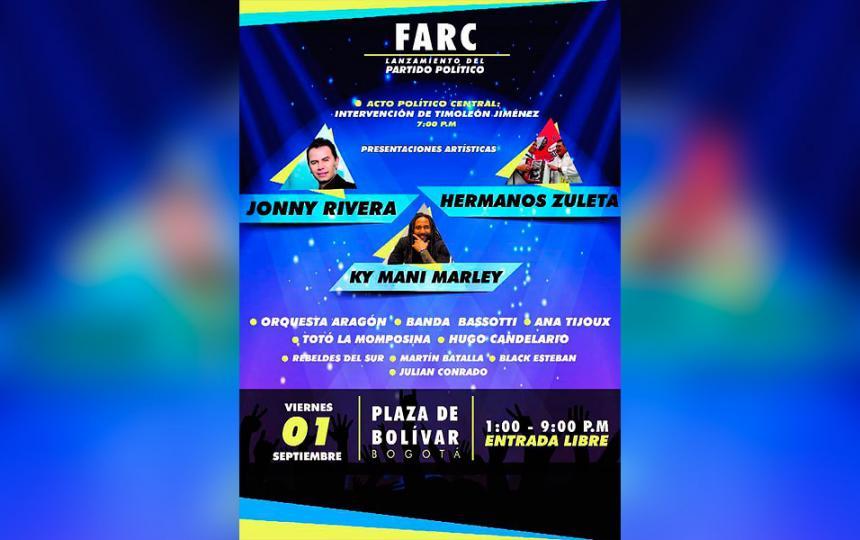 Alcaldía permitirá al partido de la Farc utilizar la Plaza de Bolívar