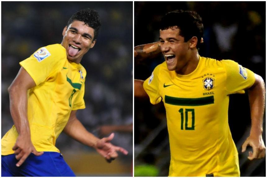 Hinchas y bellas aficionadas listos para el partido — Venezuela vs Colombia