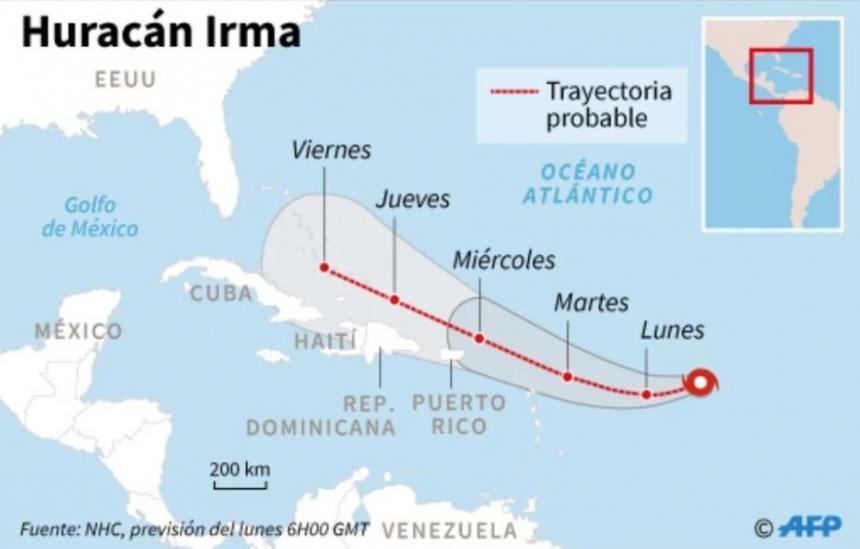 Agencia de emergencias dice huracán Irma 'devastará' a EU
