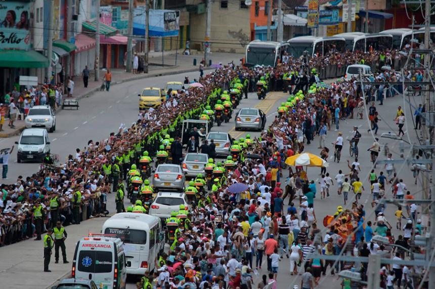 Cesarenses asistieron a misa del Papa Francisco en Cartagena