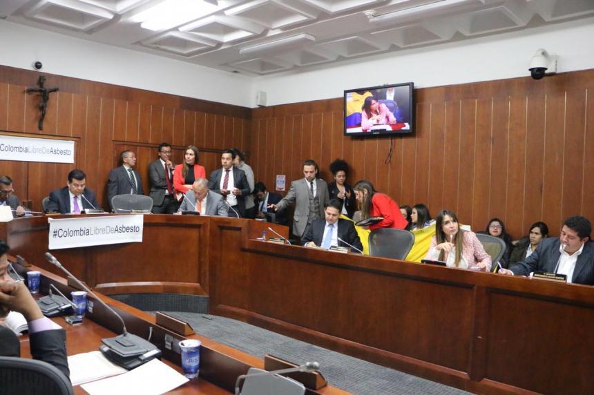 A segundo debate proyecto para eliminar el asbesto en Colombia