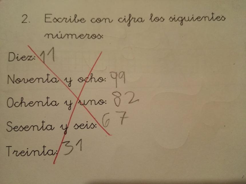 La respuesta de un nene en un examen de matemáticas — Viral