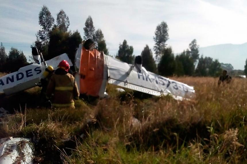 Dos muertos deja caída de avioneta en zona rural de Zipaquirá, Cundinamarca