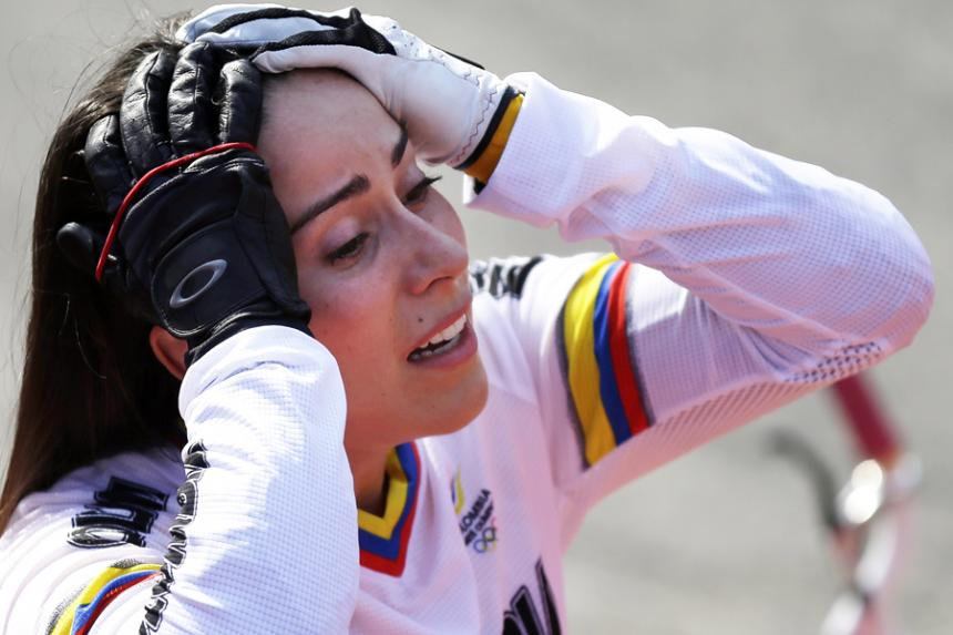 Mariana Pajón se estrelló contra una motociclista en Medellín