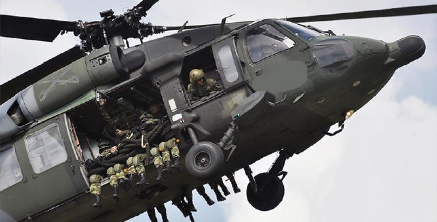 Al menos siete muertos en accidente de helicóptero del Ejército colombiano