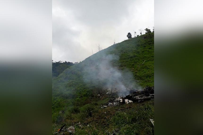 Al menos 10 muertos por caída de helicóptero del Ejército de Colombia