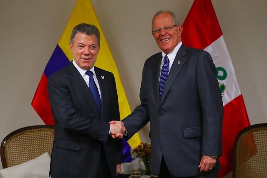 Presidente de Perú está en Colombia para Gabinete Binacional