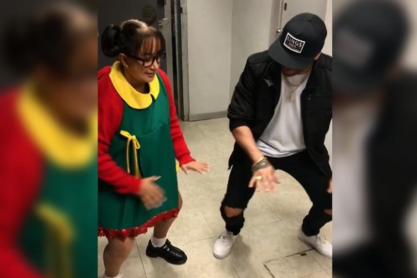 'La Chilindrina' aprende a bailar reggaetón a los 67 años