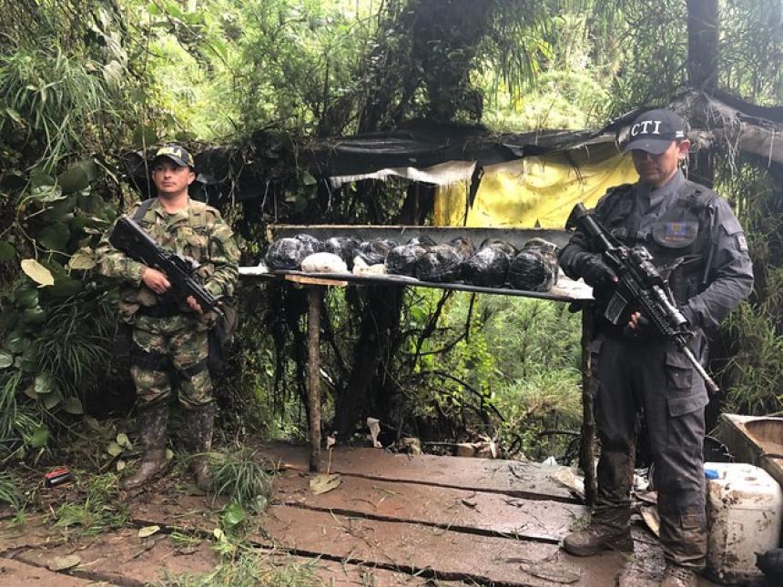 Descubren laboratorio móvil de cocaína en Sibaté Cundinamarca