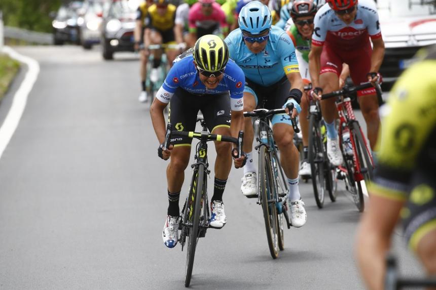 Chaves cae en la etapa trampa del Giro