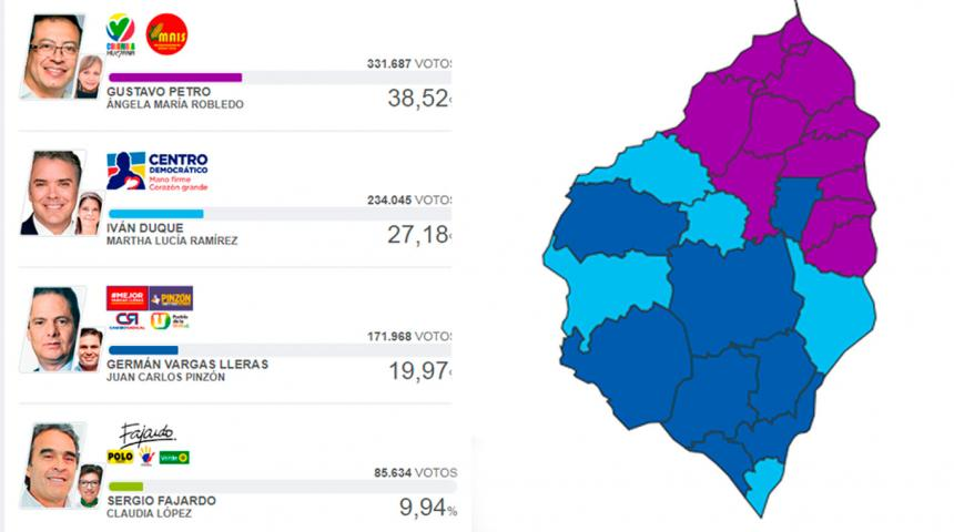 Candidatos para segunda vuelta en elecciones presidenciales de Colombia