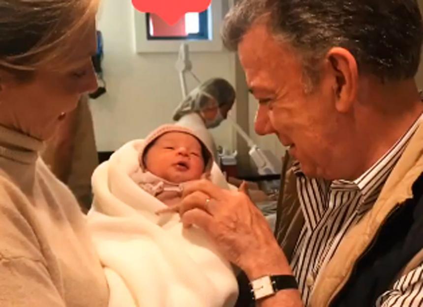 ¡Santos ya es abuelo! Conozca a Celeste, la nieta del Presidente