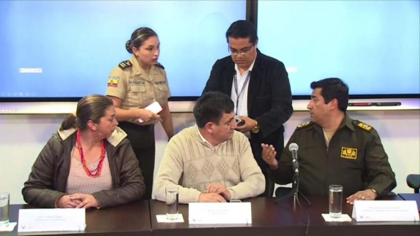 Colombia confirma que cuerpos hallados son del equipo ecuatoriano de prensa