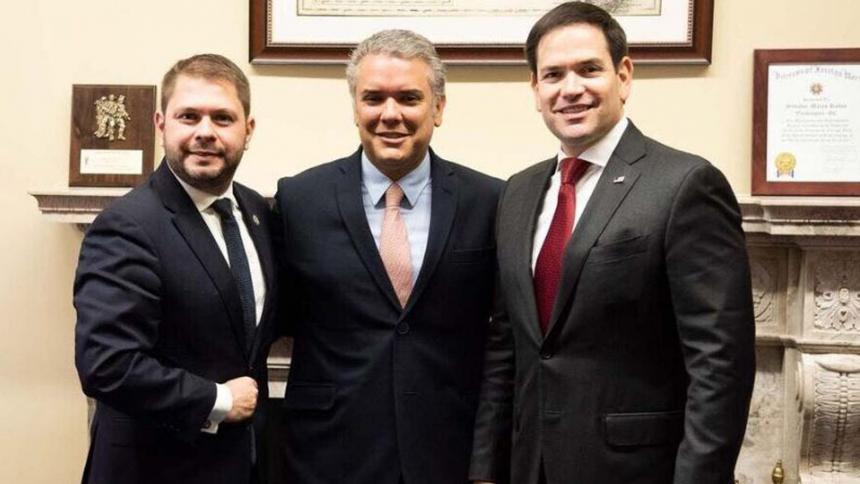 Iván Duque expone en Washington sus planes contra Nicolás Maduro