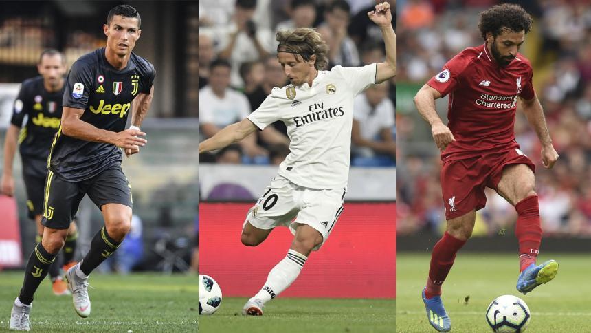 Modric, Cristiano y Salah, nominados al premio Jugador del Año