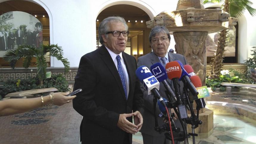 Secretario de la OEA llega a zona de frontera Colombia-Venezuela