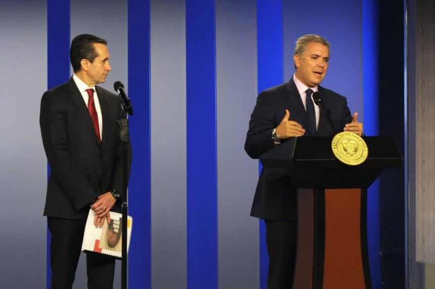 Impacto fiscal de inmigrantes venezolanos en Colombia ronda 0,5% del PIB: Duque