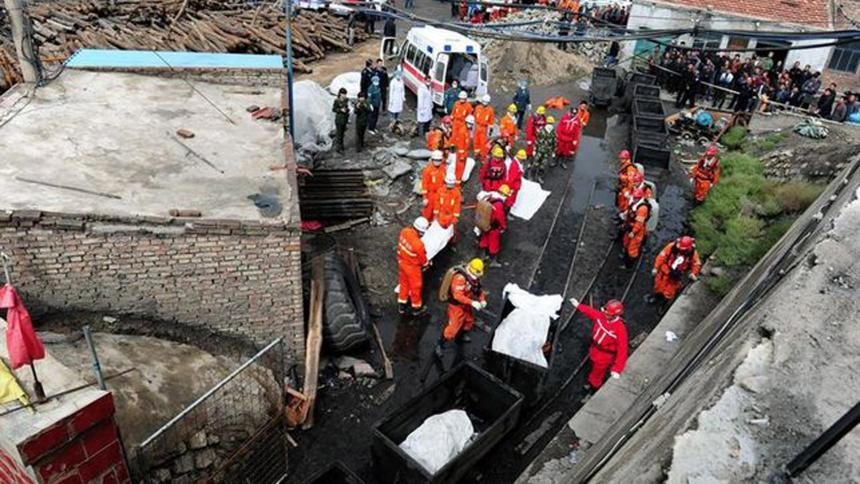 Tragedia en China: colapso de mina de carbón deja 19 muertos