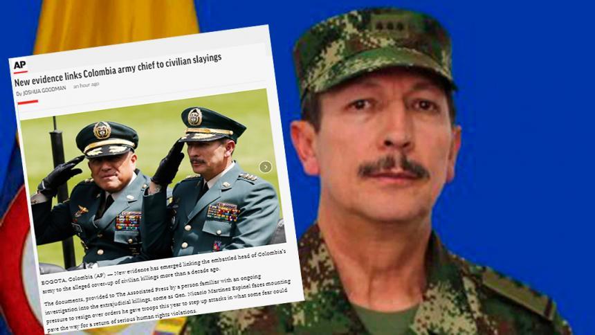 El comandante del Ejército, vinculado a falsos positivos: agencia AP