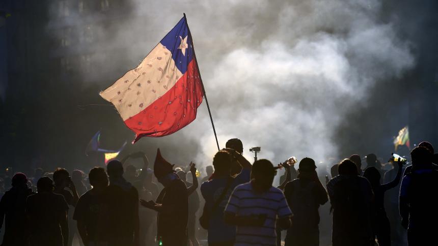 Presidente Piñera tras jornada de violencia: