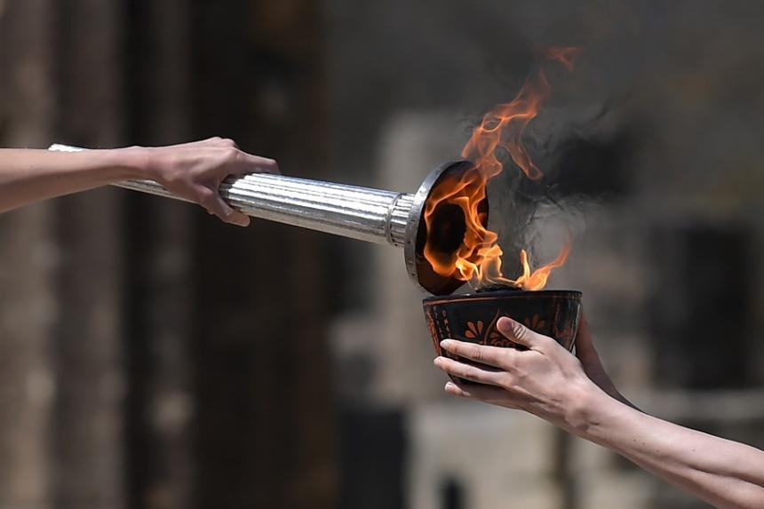 Resultado de imagen de llama olimpica
