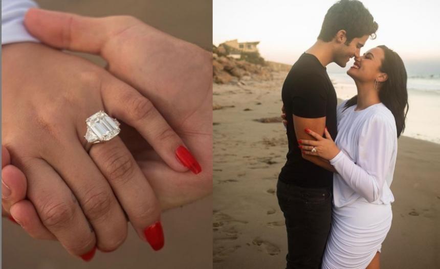 Demi Lovato anuncia su compromiso con el cantante Max Ehrich   El Heraldo