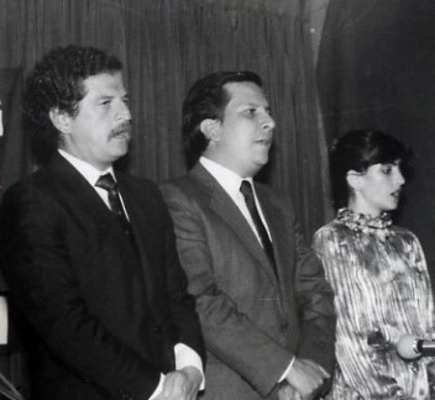 Luis Carlos Galan, Rodrigo Lara Bonilla, Nancy Restrepo de Lara.
